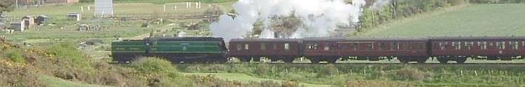 Bulleid Light Pacific No.34081 92 Squadron on The North Norfolk Railway (former M&GN) 14th May 2005